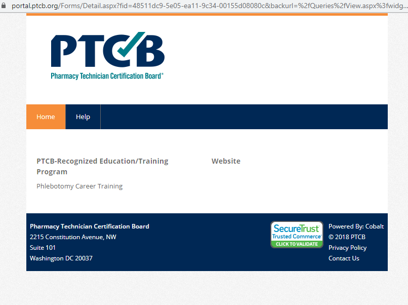Phlebotomy Career Training now a certified Pharmacy technician training program through the PTCB
